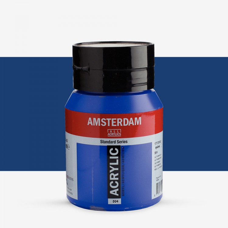 Royal Talens : Amsterdam Standard : Acrylic Paint : 500ml : Ultramarine