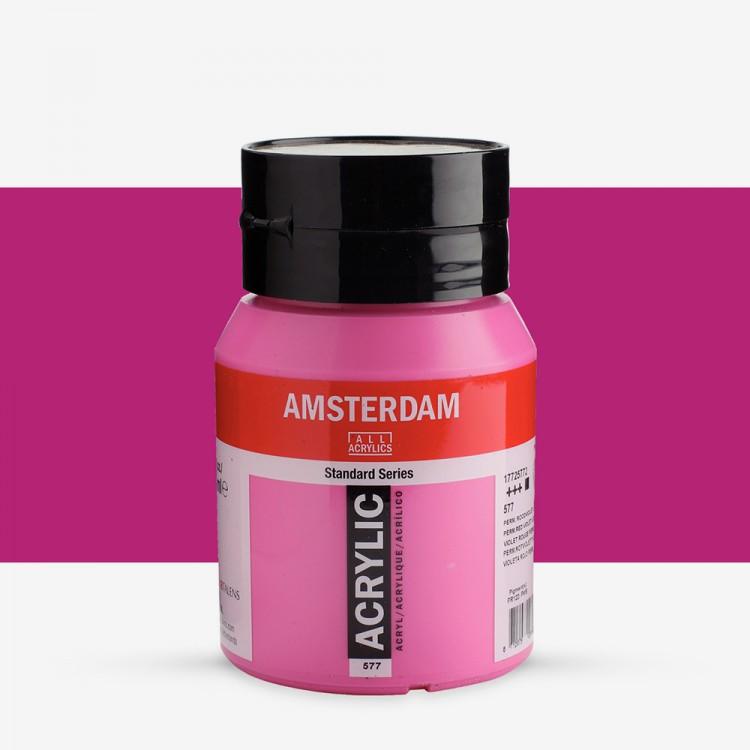 Talens : Amsterdam Standard : Acrylic Paint : 500ml : Permanent Red Violet Light