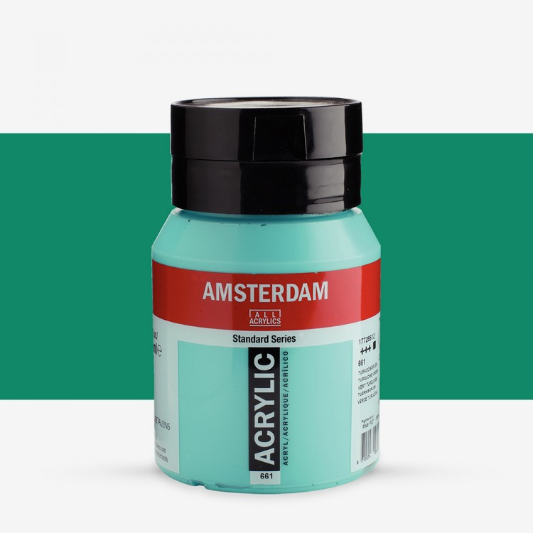 Talens : Amsterdam Standard : Acrylic Paint : 500ml : Turquoise Green