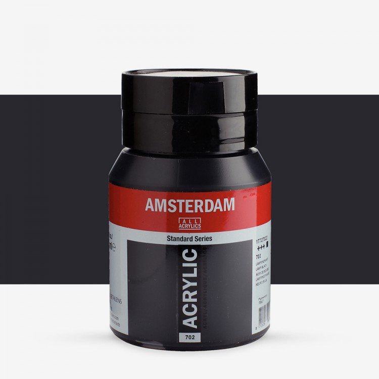 Talens : Amsterdam Standard : Acrylic Paint : 500ml : Lamp Black