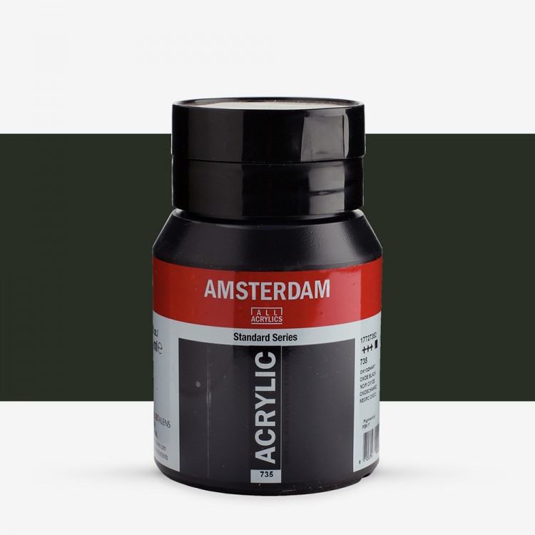 Royal Talens : Amsterdam Standard : Acrylic Paint : 500ml : Oxide Black