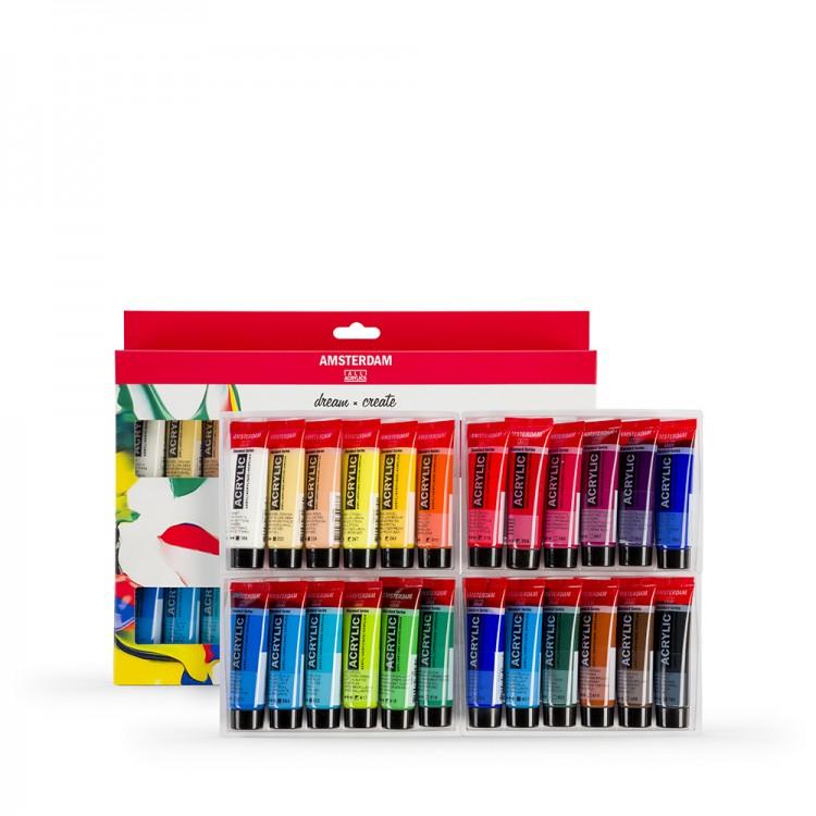 Talens : Amsterdam Standard : Acrylic Paint Set : 24x20ml