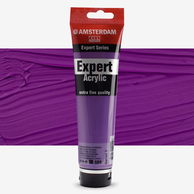Talens : Amsterdam Expert : Acrylic Paint : 150ml : S3 : Permanent Violet Opaque