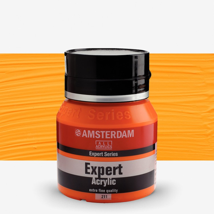 Talens : Amsterdam Expert : Acrylic Paint : 400ml : S4 : Cadmium Orange