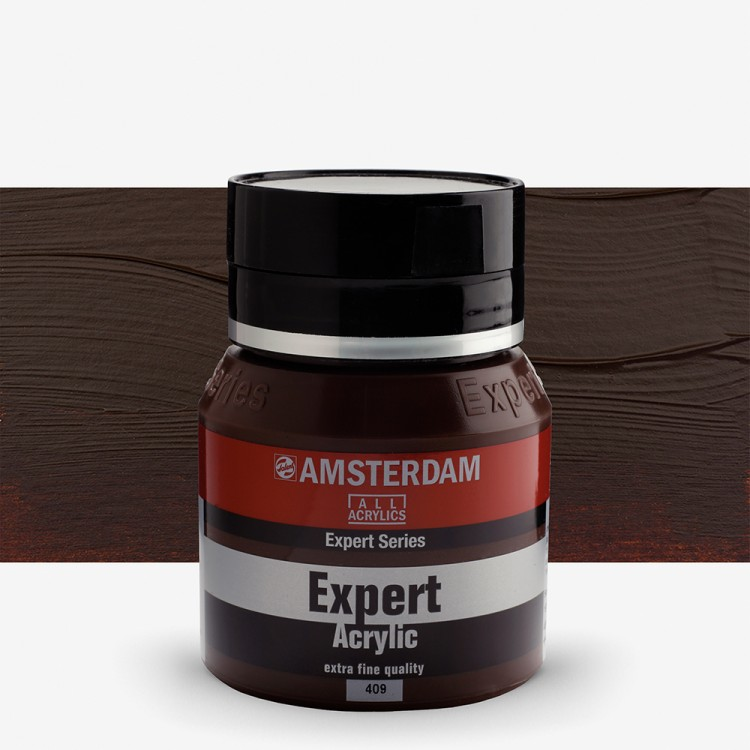 Talens : Amsterdam Expert : Acrylic Paint : 400ml : S2 : Burnt Umber