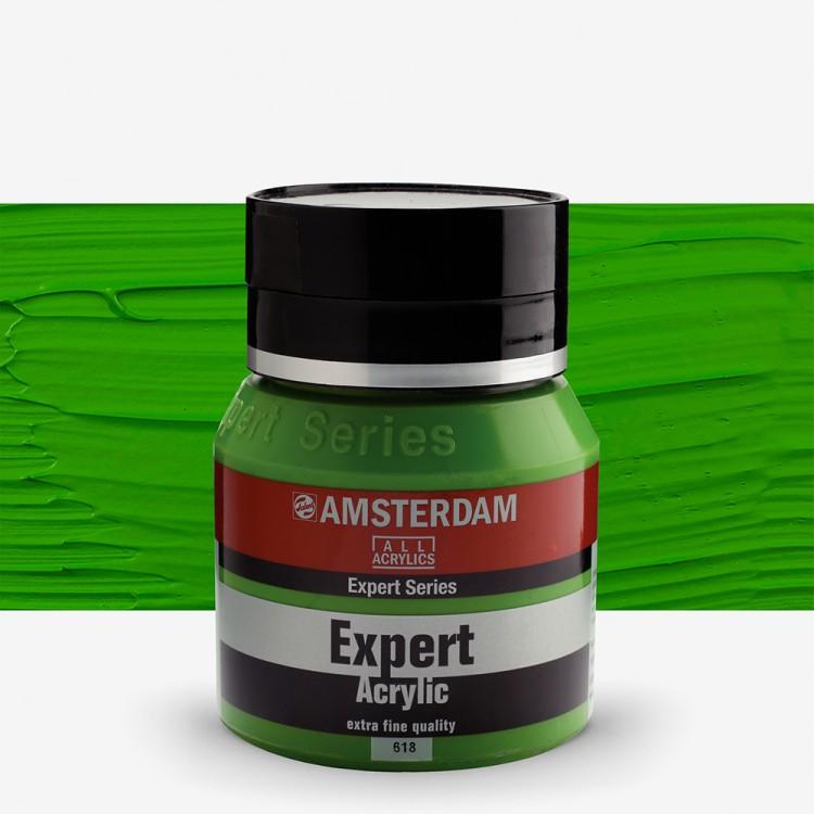 Talens : Amsterdam Expert : Acrylic Paint : 400ml : S2 : Permanent Green Light
