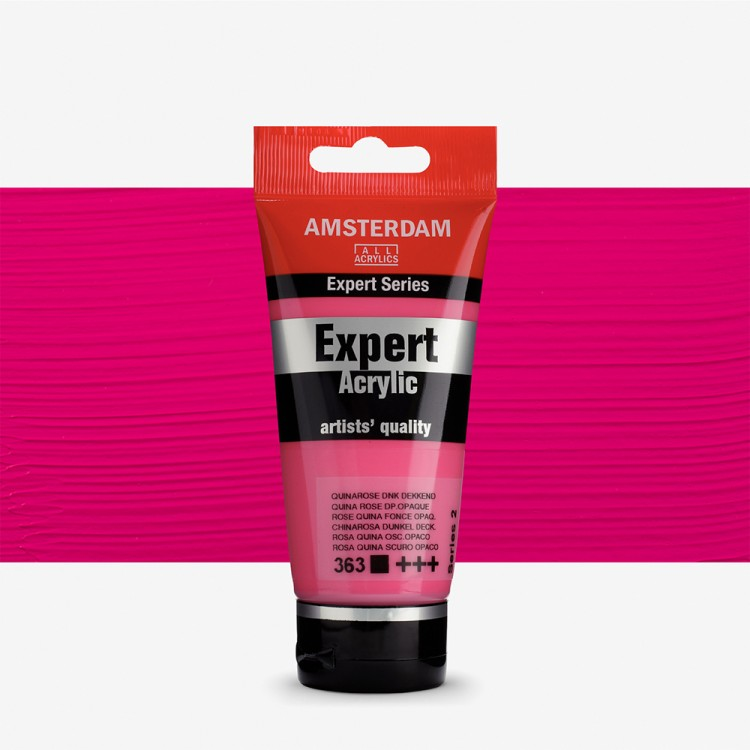 Talens : Amsterdam Expert Acrylic 75ml series 2 Quina. Rose Deep Opaque