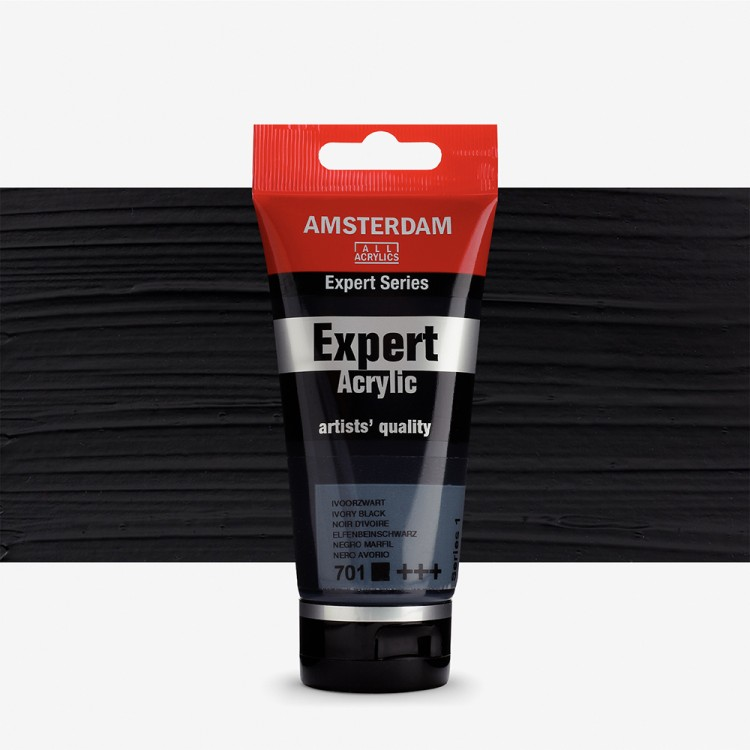 Talens : Amsterdam Expert Acrylic 75ml series 1 Ivory Black