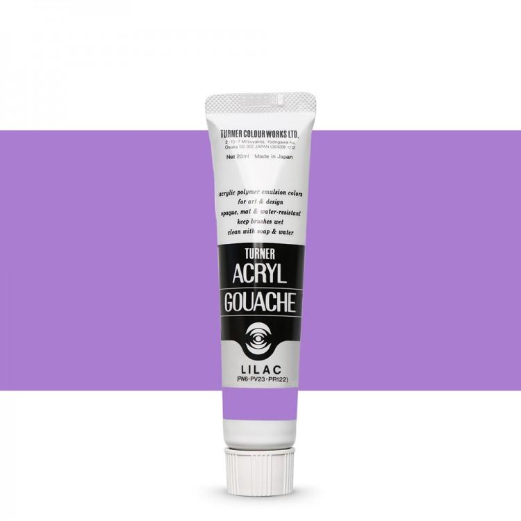 Turner : Acrylic Gouache Paint : 20ml : Lilac 60