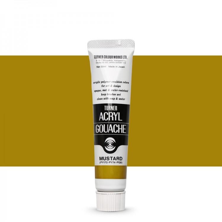 Turner : Acrylic Gouache Paint : 20ml : Mustard 132
