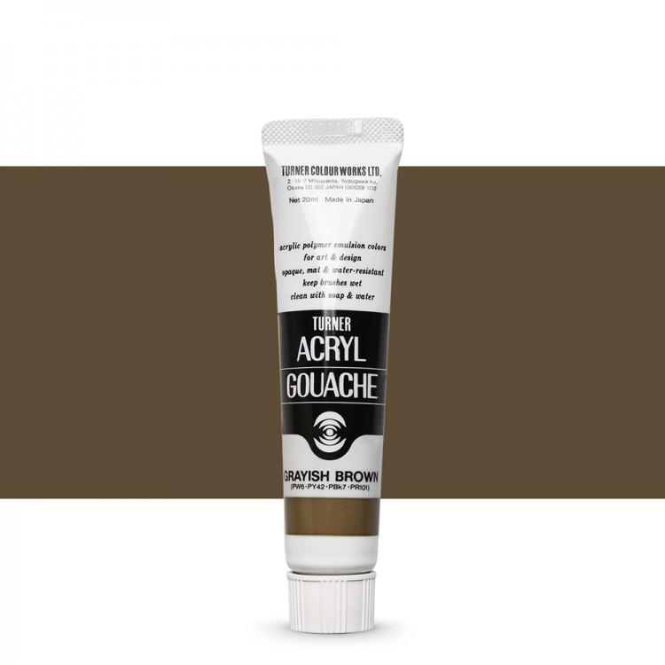 Turner : Acrylic Gouache Paint : 20ml : Greyish Brown 193