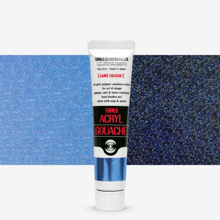 Turner : Acrylic Gouache Paint : 20ml : Lame Marine Sapphire 230