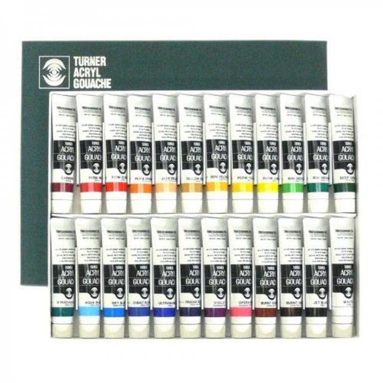 Turner : Acrylic Gouache Paint : 20ml : 24 Colour Set