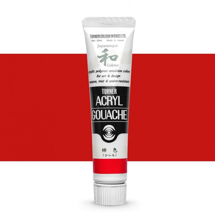 Turner : Acrylic Gouache Paint : Japanesque Texture : 20ml : Japanesque Scarlet 320