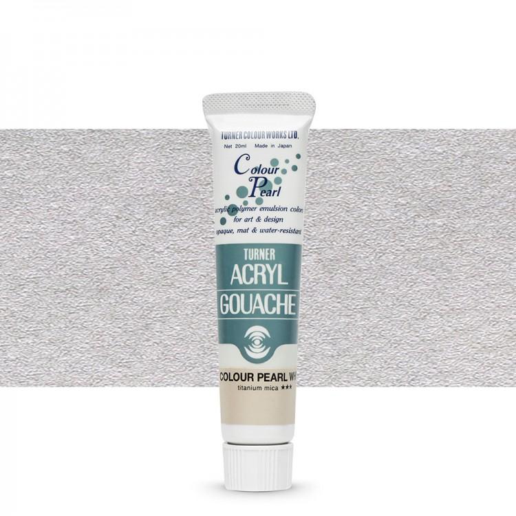 Turner : Acrylic Gouache Paint : 20ml : Pearl White 401