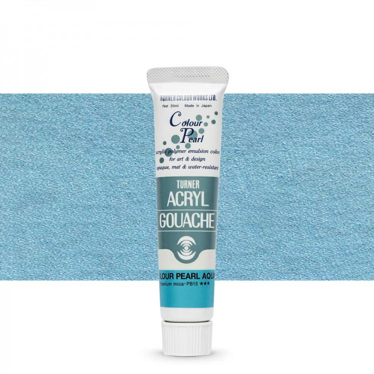 Turner : Acrylic Gouache Paint : 20ml : Pearl Aqua 415