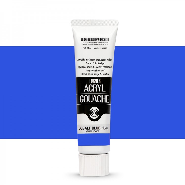 Turner : Acrylic Gouache Paint : 40ml : Cobalt Blue(Hue) 52