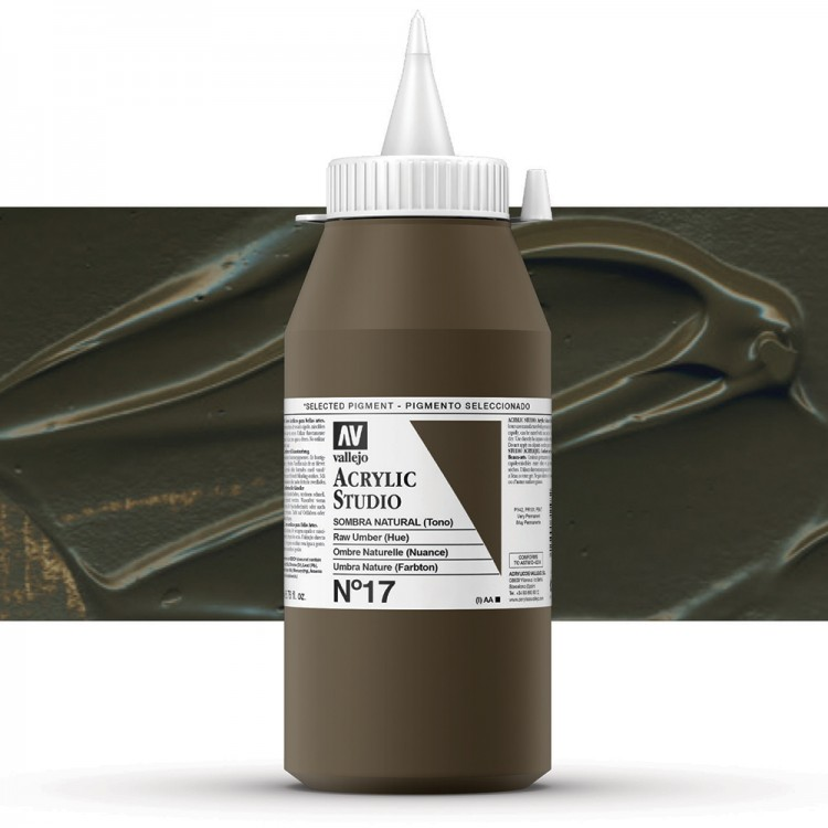 Vallejo : Studio Acrylic Paint : 1000ml : Raw Umber (Hue)