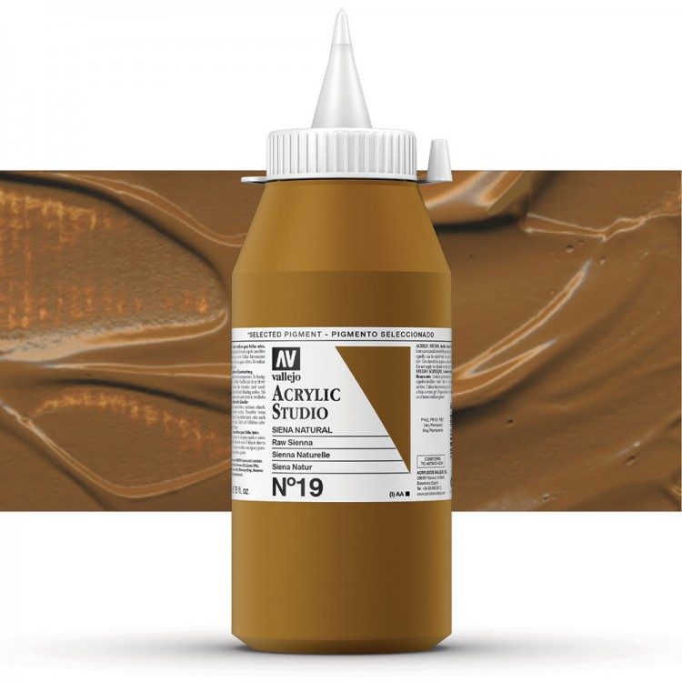 Vallejo : Studio Acrylic Paint : 1000ml : Raw Sienna (Hue)
