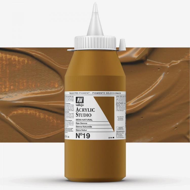 Vallejo : Studio Acrylic Paint : 1000ml : Raw Sienna (Hue)