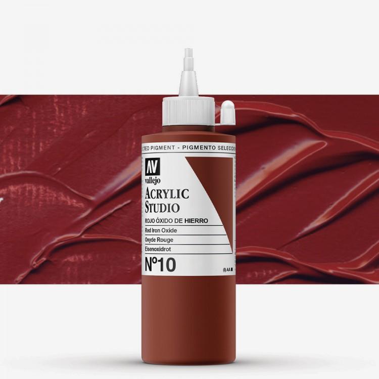 Vallejo : Studio Acrylic Paint : 200ml : Mars Red