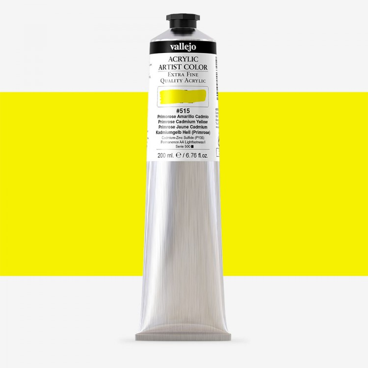 Vallejo : Artist Acrylic Paint : 200ml : Primrose Cadmium Yellow