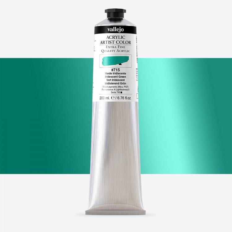 Vallejo : Artist Acrylic Paint : 200ml Tube : Iridescent Green