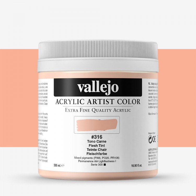 Vallejo : Artist Acrylic Paint : 500ml Pot : Flesh Tint