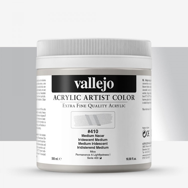Vallejo : Artist Acrylic : 500ml Pot : Iridescent Medium
