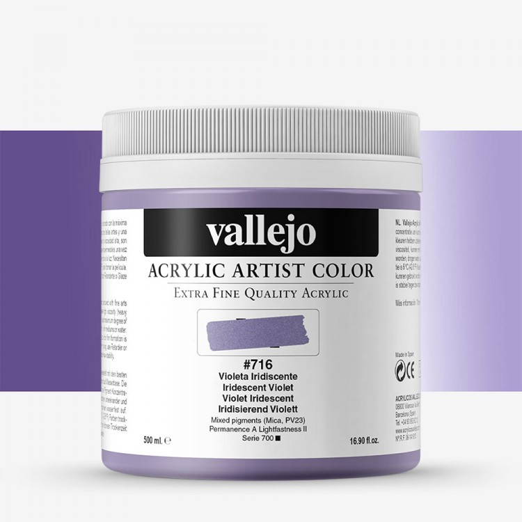 Vallejo : Artist Acrylic Paint : 500ml : Pot : Iridescent Violet