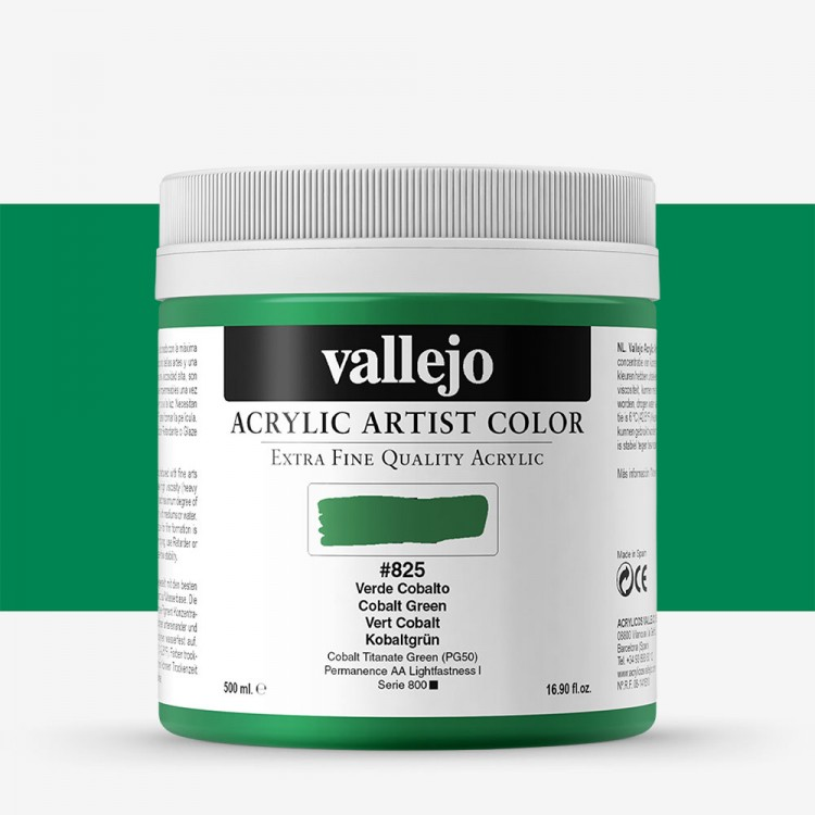 Vallejo : Artist Acrylic Paint : 500ml : Pot : Cobalt Green