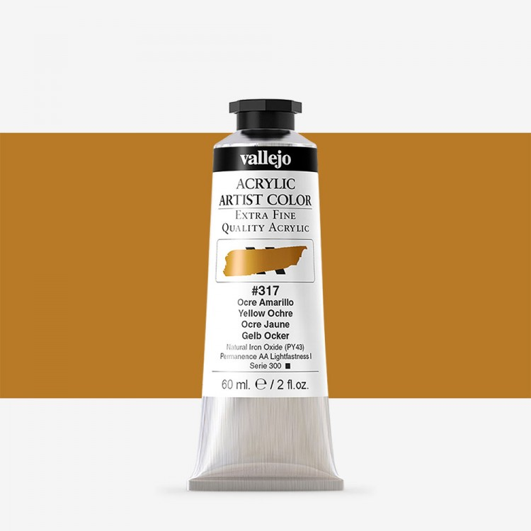 Vallejo : Artist Acrylic Paint : 60ml : Yellow Ochre