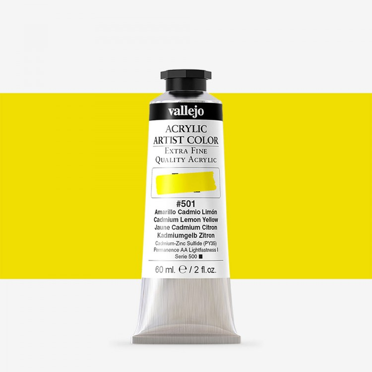 Vallejo : Artist Acrylic Paint : 60ml : Cadmium Lemon Yellow
