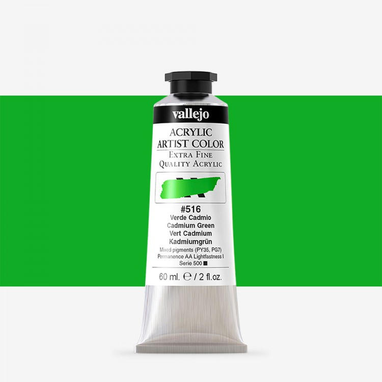 Vallejo : Artist Acrylic Paint : 60ml : Cadmium Green