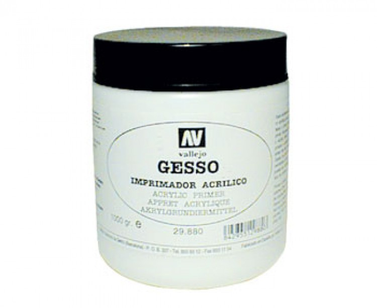 Vallejo : Acrylic Gesso : 5000ml : By Road Parcel Only