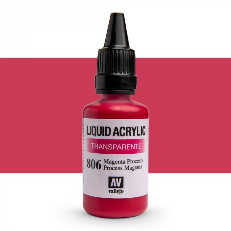 Vallejo : Liquid Acrylic Paint : 32ml : Process Magenta