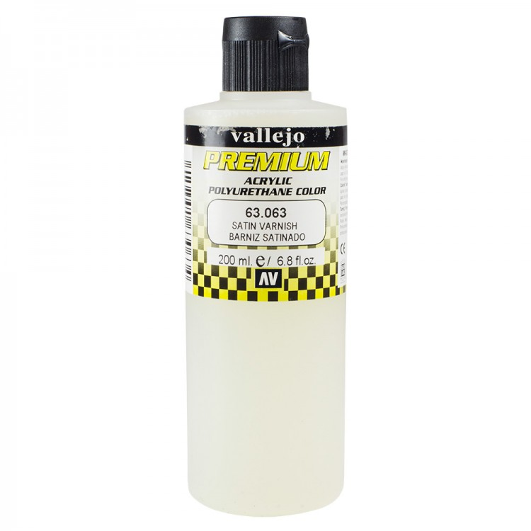 Vallejo : Premium Airbrush Paint : 200ml : Satin Varnish : By Road Parcel Only