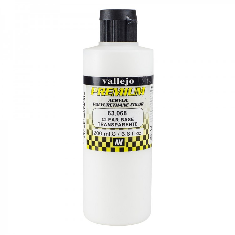 Vallejo : Premium Airbrush Paint : 200ml : Clear Base - Transparent