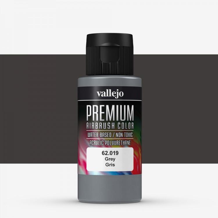 Vallejo : Premium Airbrush Paint : 60ml : Grey