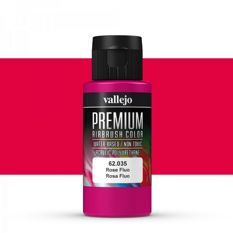 Vallejo : Premium Airbrush Paint : 60ml : Rose Fluorescent