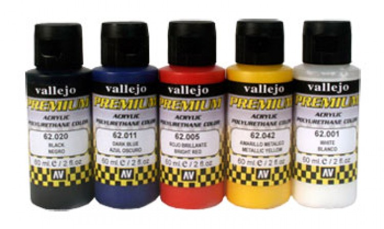 Vallejo : Premium Airbrush Paint : Set of 5 : Opaque Colours