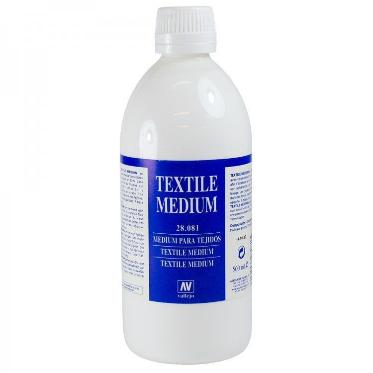 Vallejo : Acrylic Silk Screen & Textile Medium : 500ml