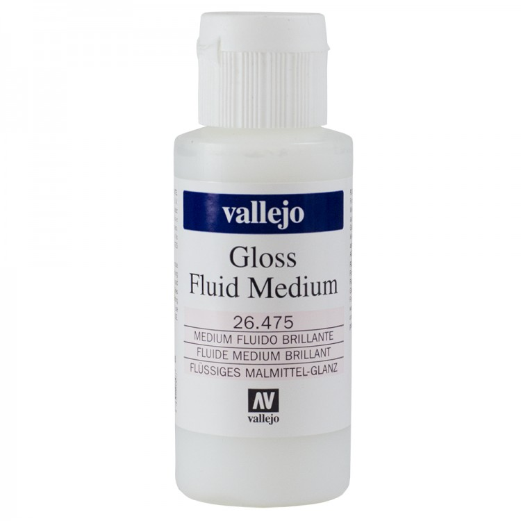 Vallejo : Acrylic Fluid Gloss Medium : 60ml