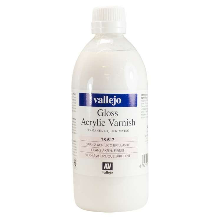 Vallejo : Acrylic Quick Drying Gloss Varnish : 500ml : By Road Parcel Only