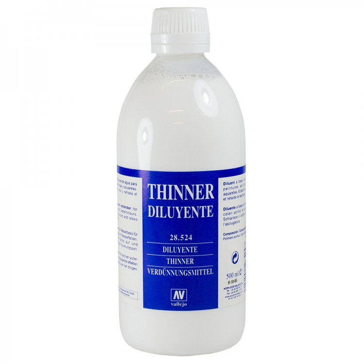 Vallejo : Acrylic Thinner Medium : 500ml