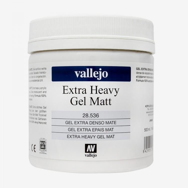 Vallejo : Acrylic Extra Heavy Gel Matt Medium : 500ml