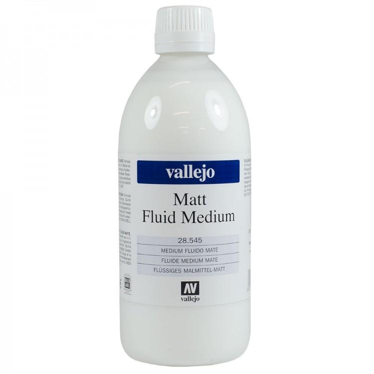 Vallejo : Acrylic Fluid Matt Medium : 500ml