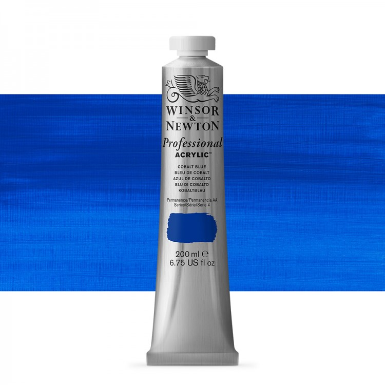 Winsor & Newton : Professional Acrylic Paint : 200ml : Cobalt Blue