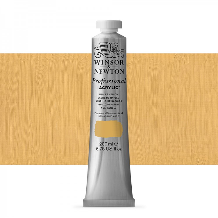 Winsor & Newton : Professional Acrylic Paint : 200ml : Naples Yellow