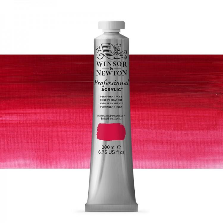 Winsor & Newton : Professional : Acrylic Paint : 200ml : Perm Rose Quinacridone